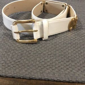 Vintage white Carlisle Genuine Leather belt